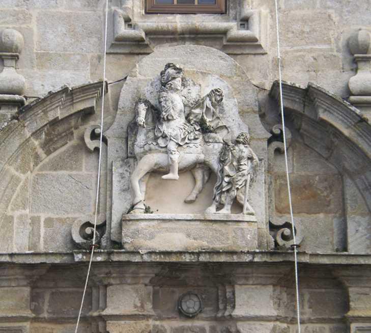 Escultura en Iglesia de San Martiño do Porto