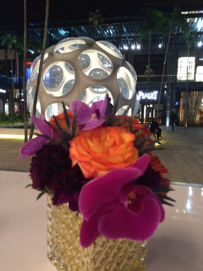 Flor en Bvlgari Miami Design District