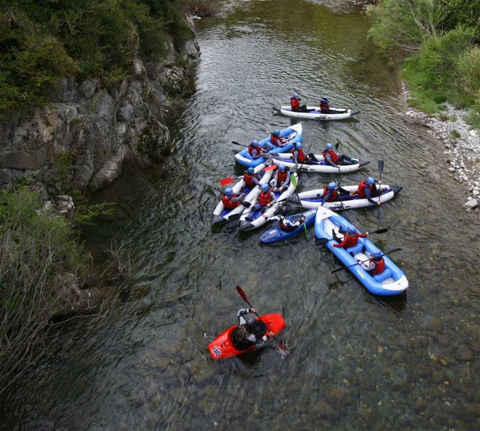 Piragüismo en Rafting en el Valle de Ansó
