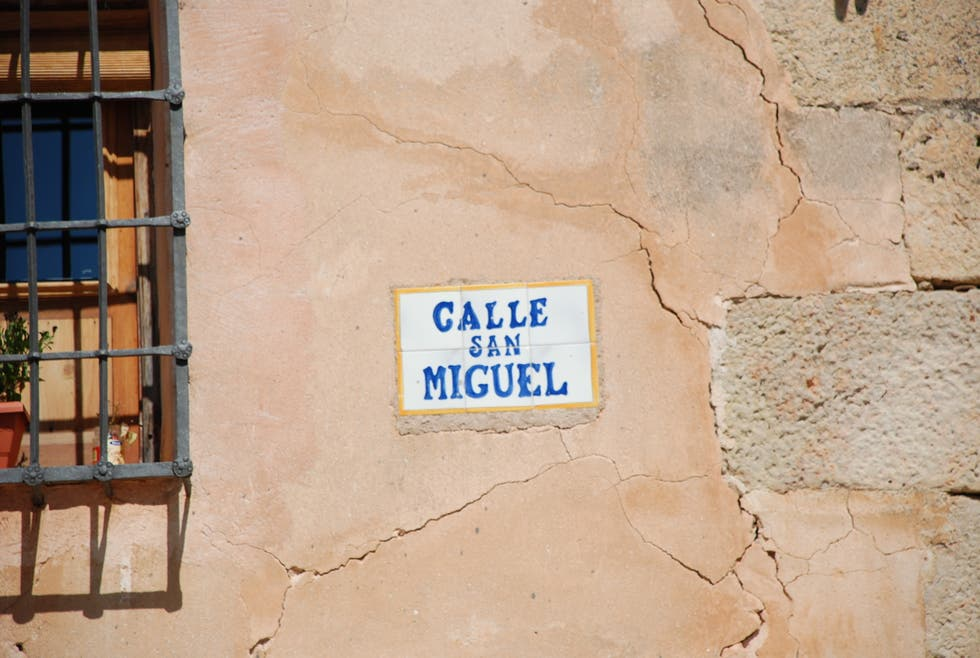 Pared en Calle San Miguel