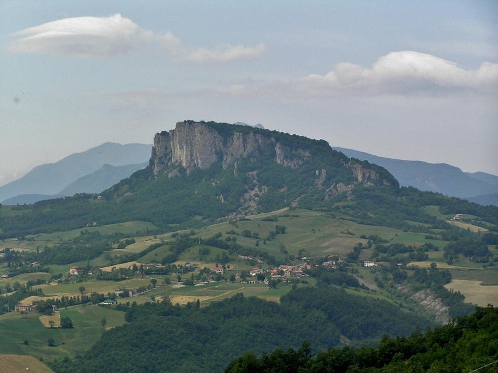 Mountain in Langhirano