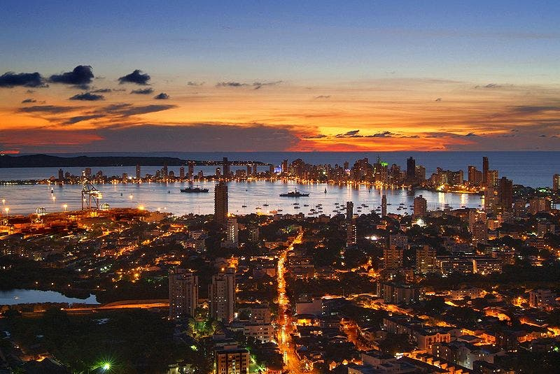 Cityscape in Cartagena