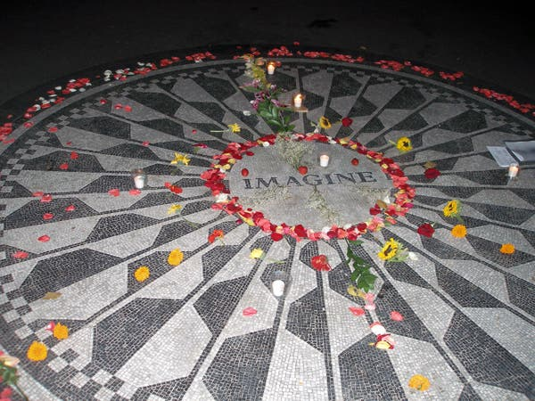 Mosaico en Strawberry Fields - monumento a John Lennon