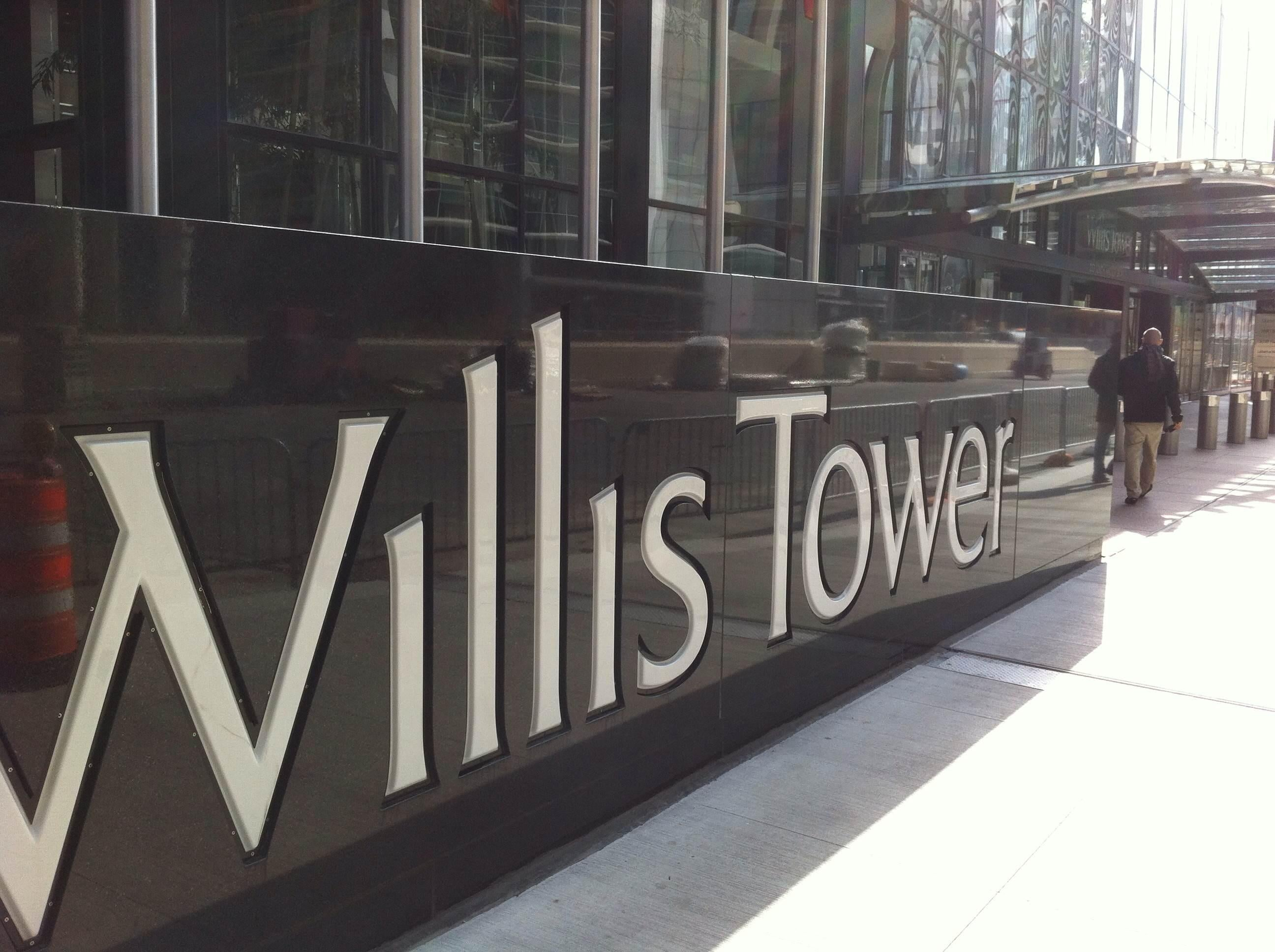 Signage in Willis Tower