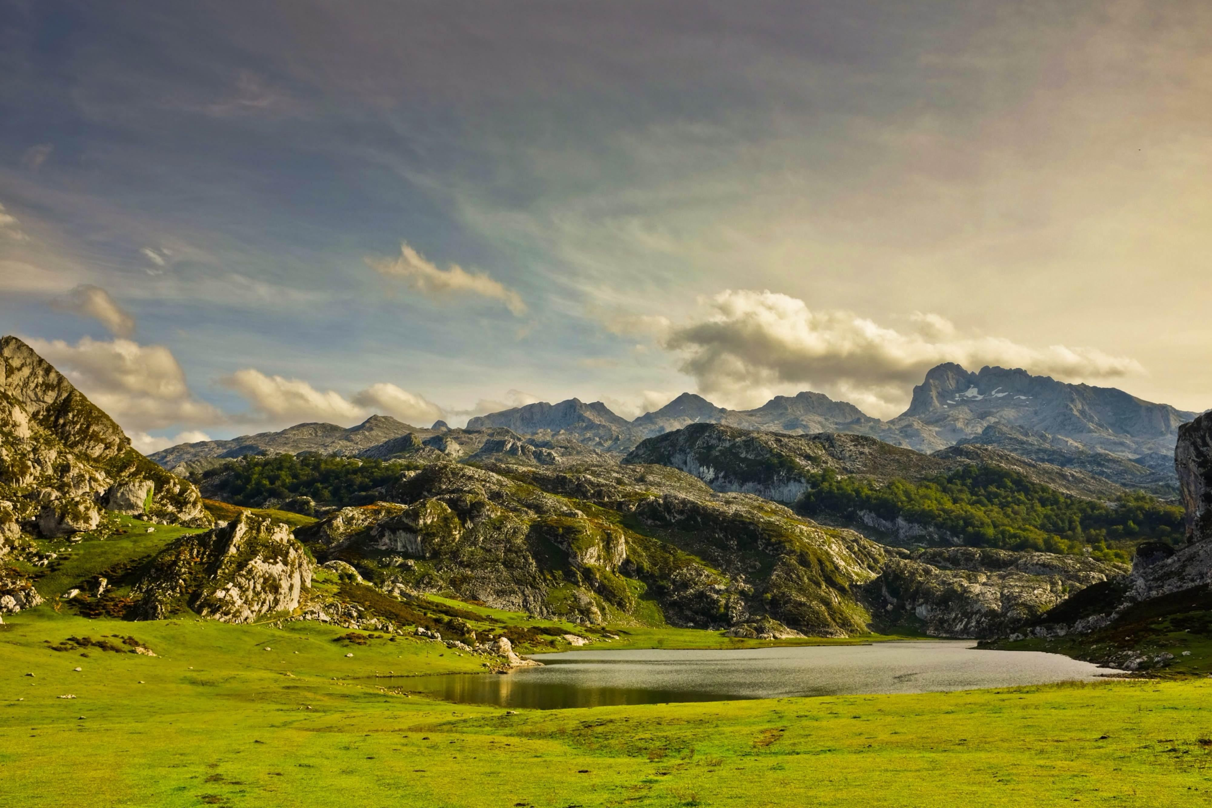 Grassland in The Lakes of Covadonga - Enol and Ercina lakes