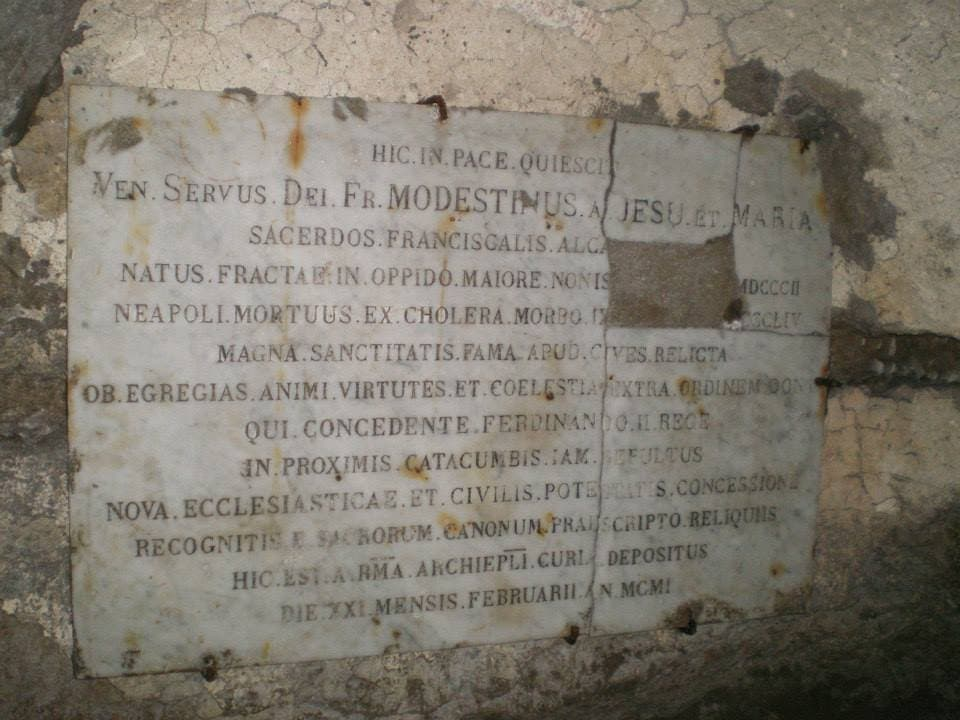 Memorial en Catacumba de San Gaudioso