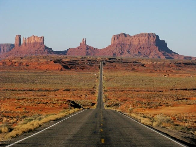 Badlands in Monument Valley