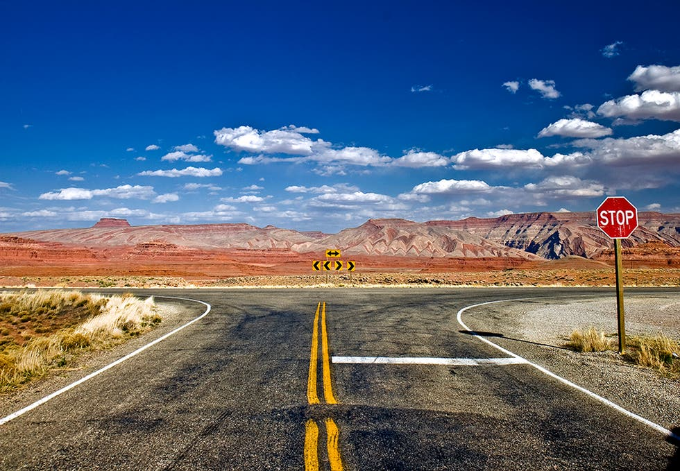 Highway in Mexican Hat