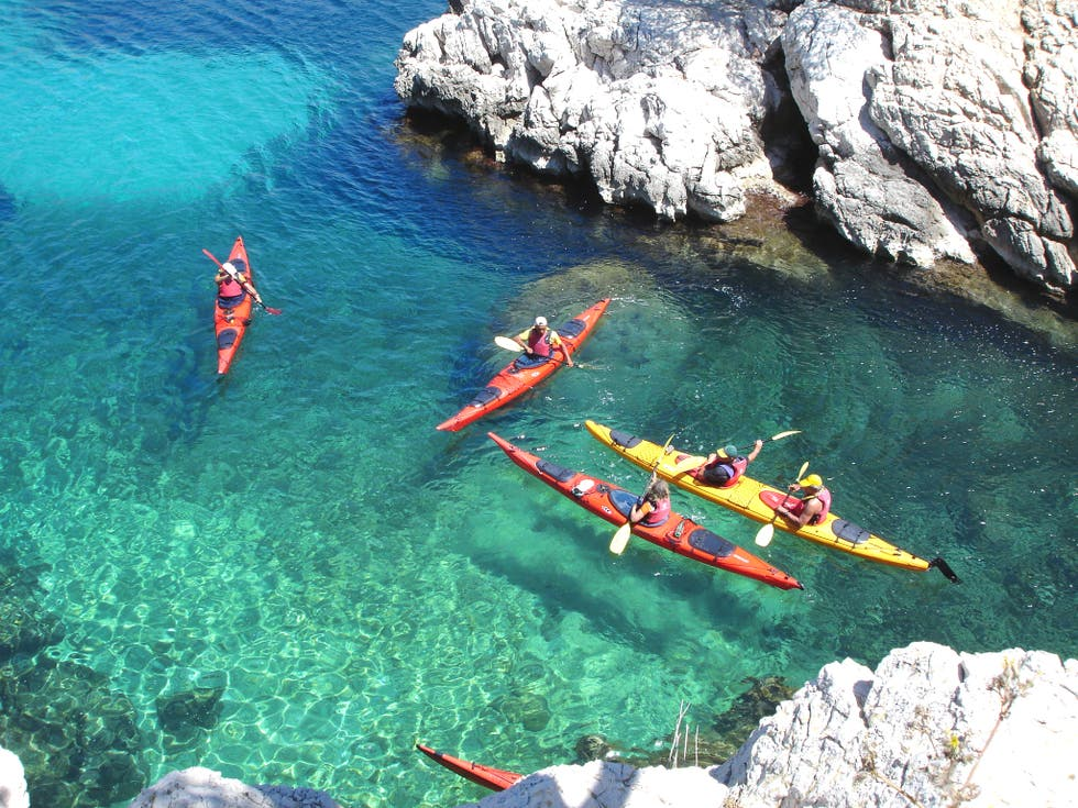 Kayaking in Marsella