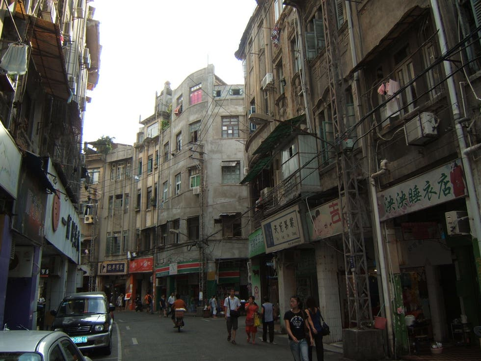 City in Old Town and Park of Xiamen