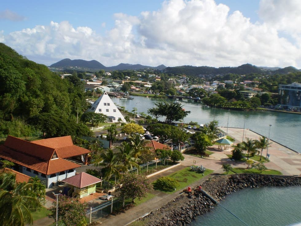 Mar en Castries Harbor