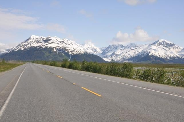 Carretera en Anchorage