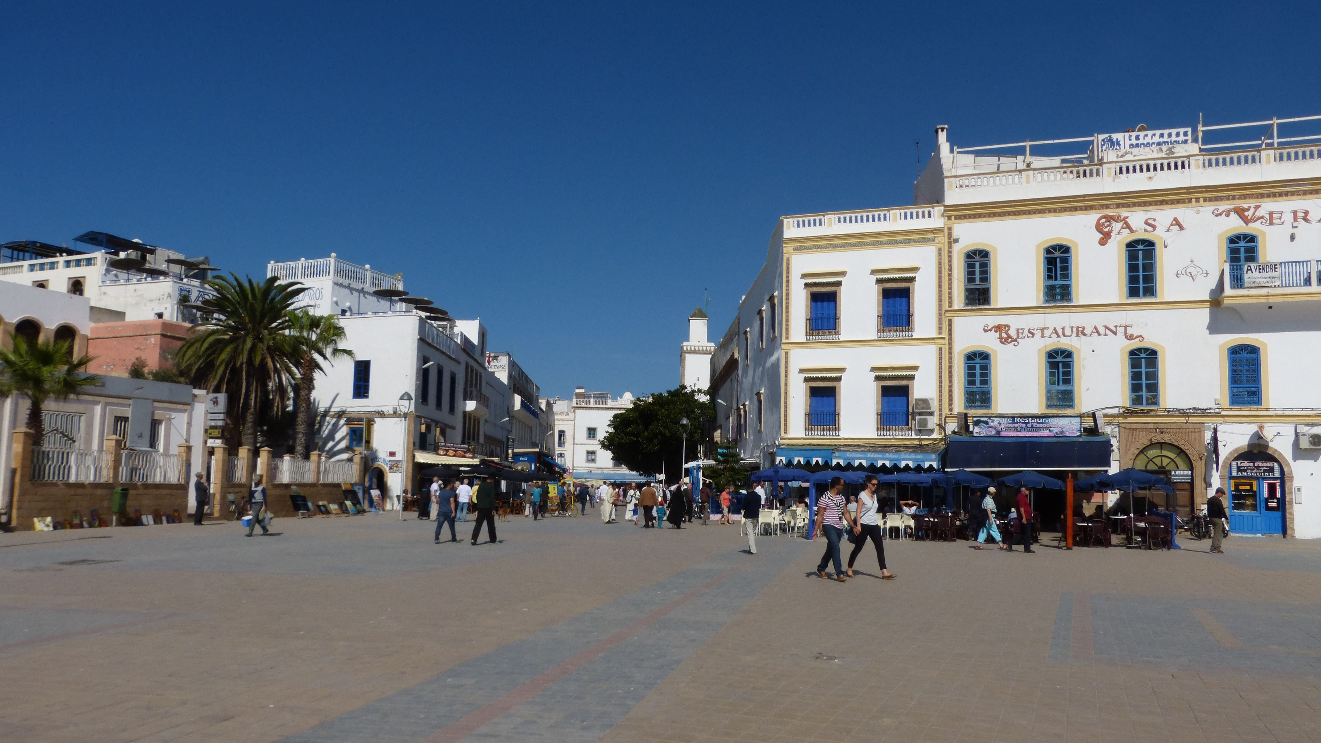 Beach in Place Moulay Hassan
