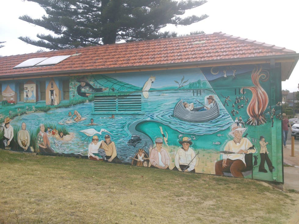 Pared en Manly lagoon
