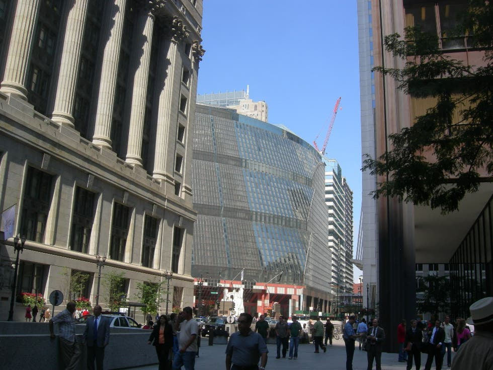 Multitud en James R. Thompson Center