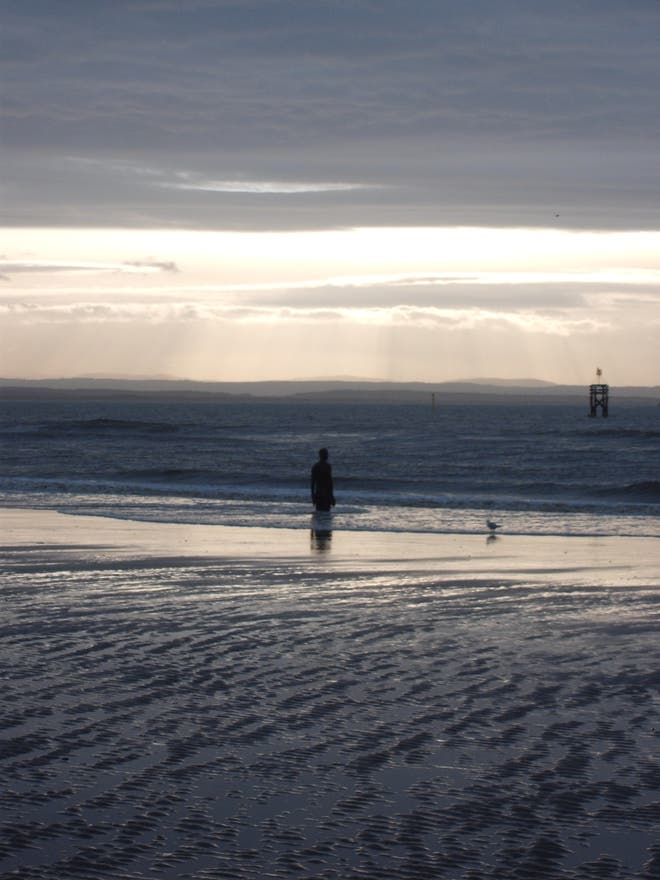 Mar en Crosby Beach