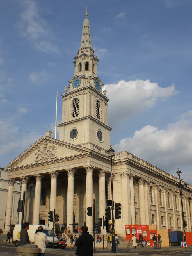 Emblemático en St Martin-in-the-Fields