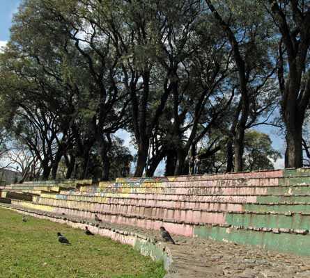 Parque en Parque Lezama, barrio de San Telmo