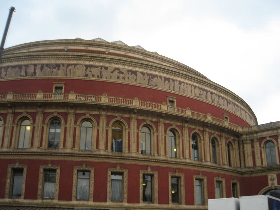 Fachada en Royal Albert Hall