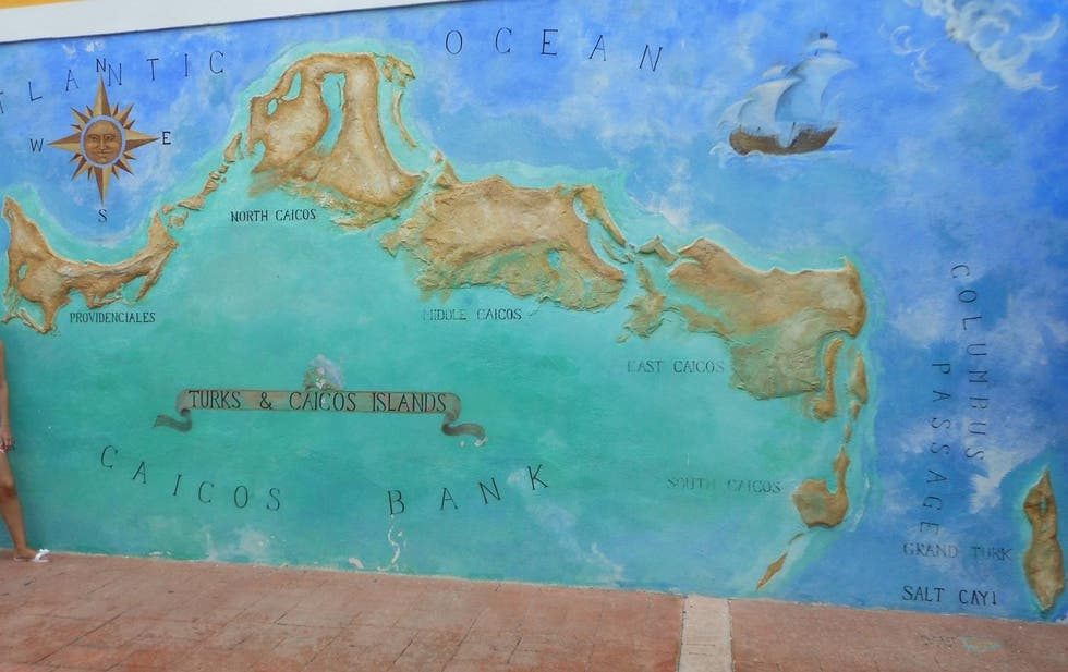 Map in Five Cays