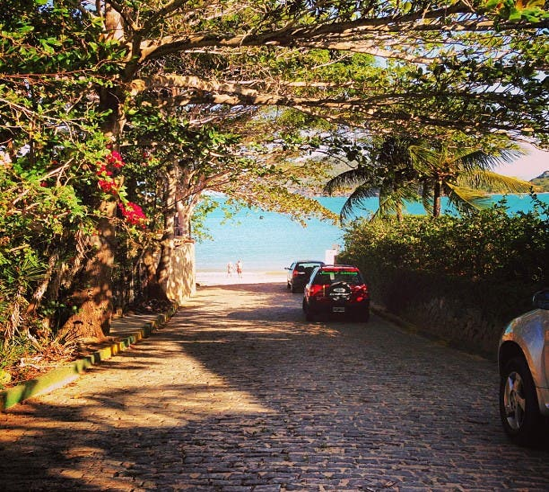 Hoja en Playa de la Ferradurinha