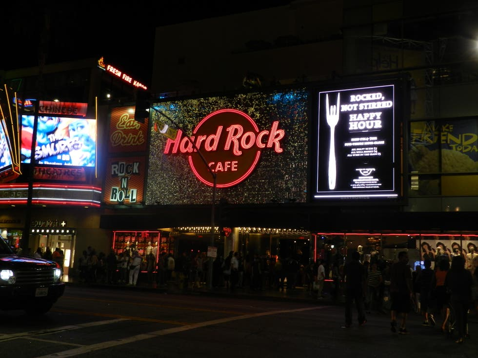 Cartelera en Hollywood Boulevard
