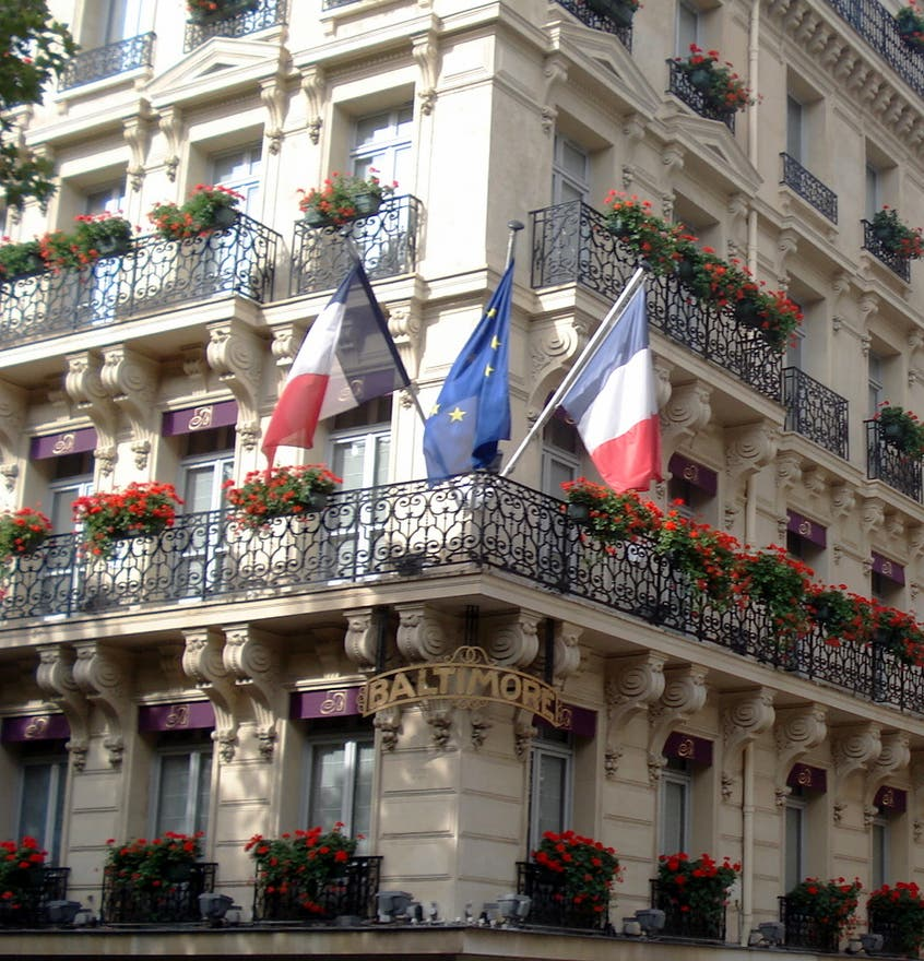 Photos de ville hotel baltimore paris champs elys es for Hotel baltimore paris