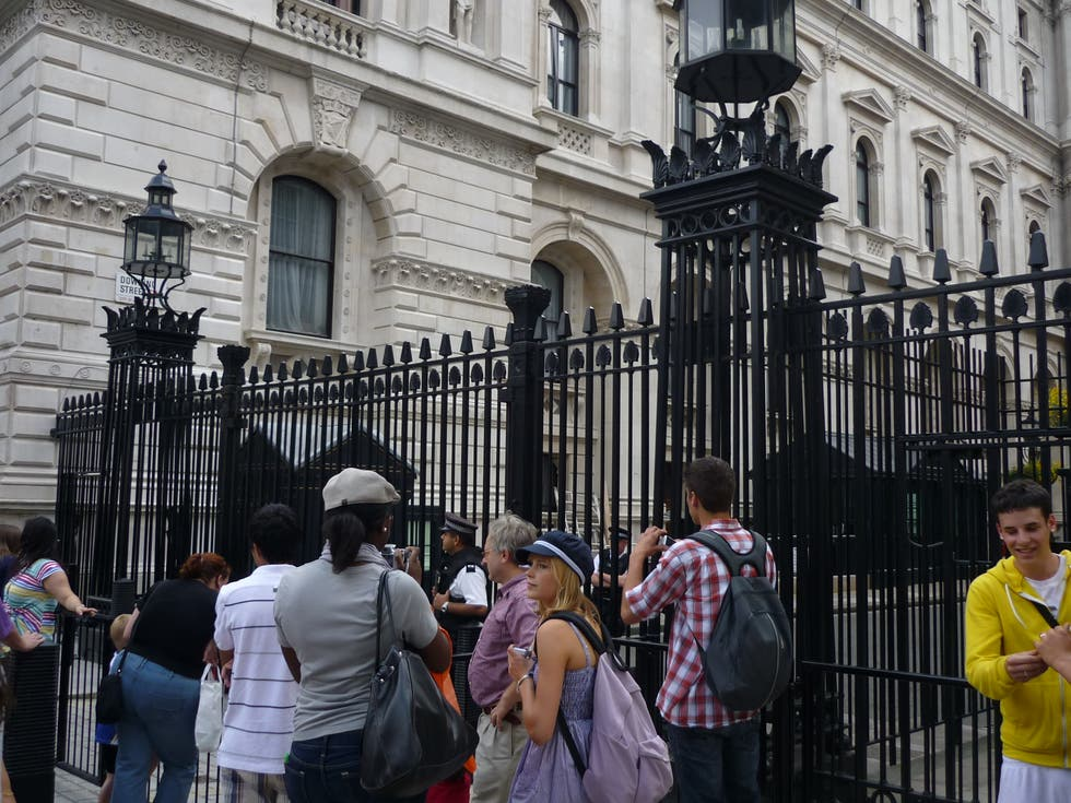 Multitud en 10 Downing Street