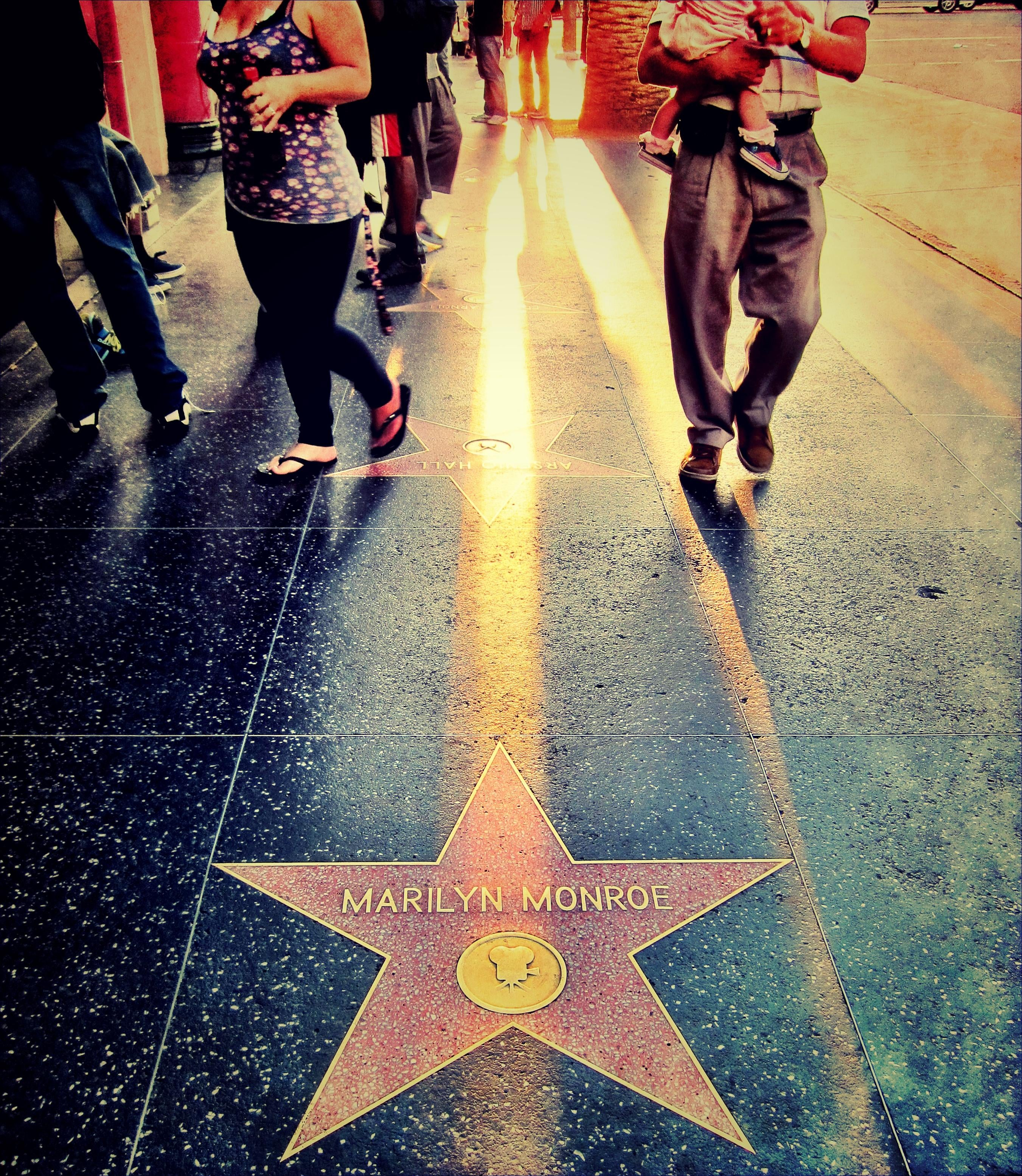 Street in Hollywood Walk of Fame
