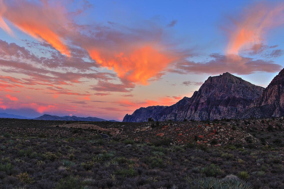 Nube en Red Rock Canyon National Conservation Area