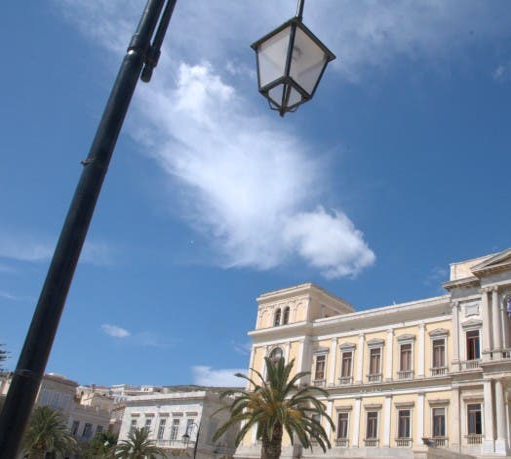Emblemático en Plaza de Miaouli