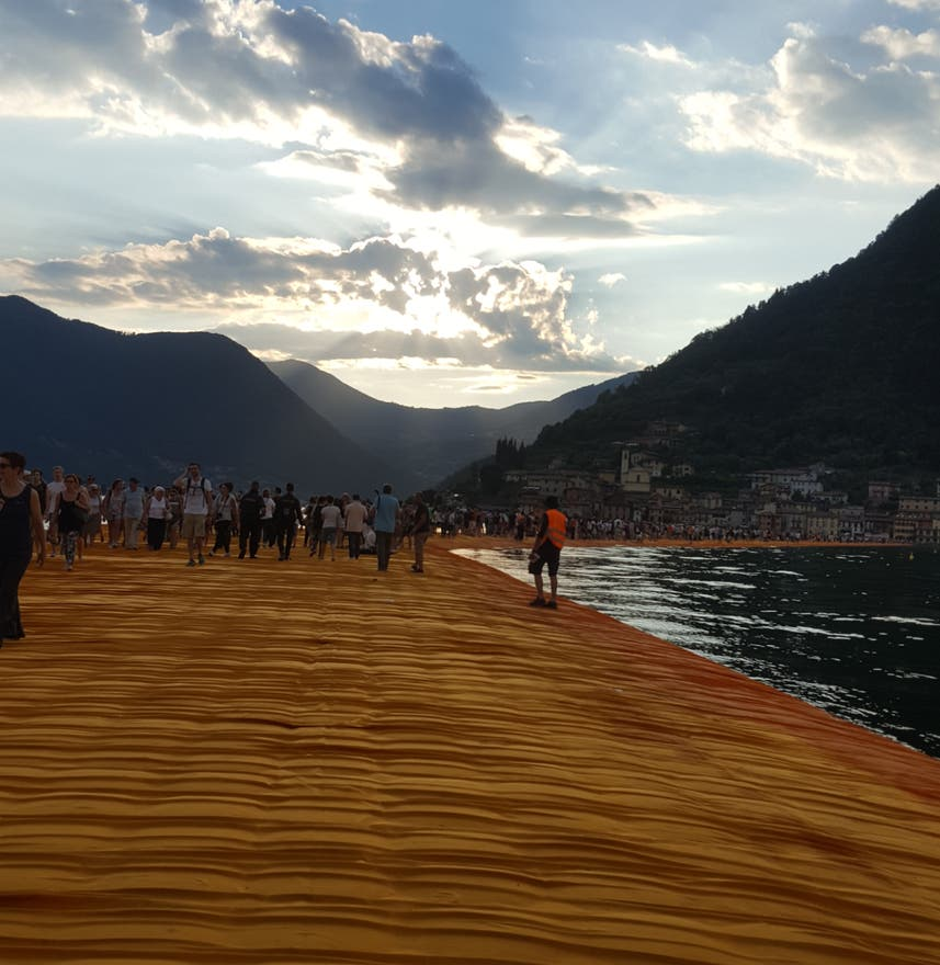 Montaña en The Floating Piers