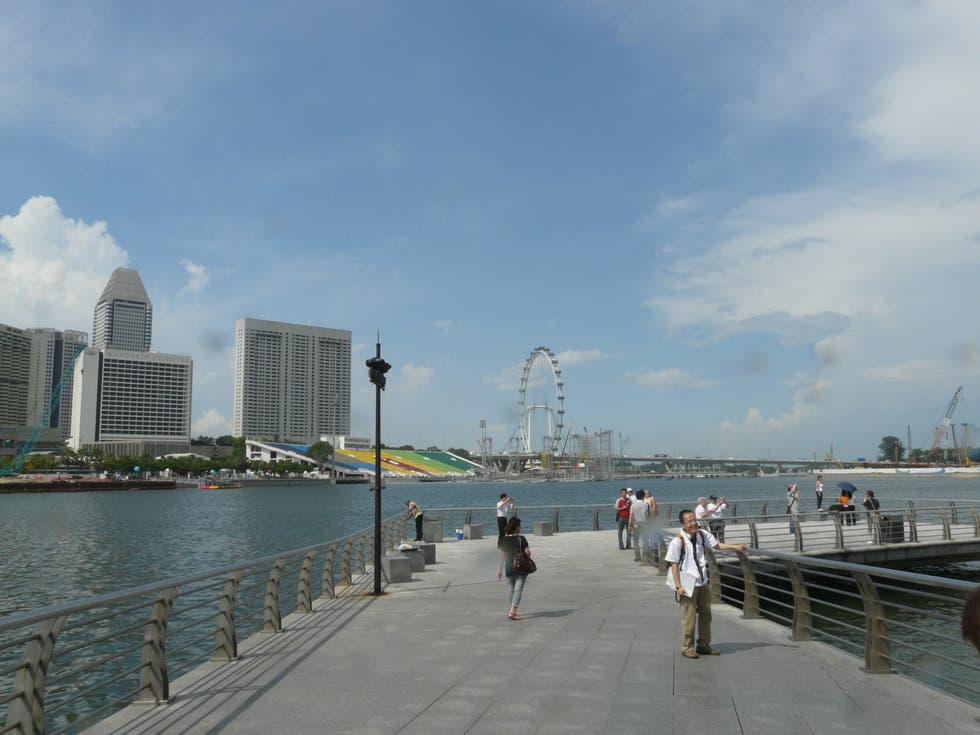 Mar en Merlion Park