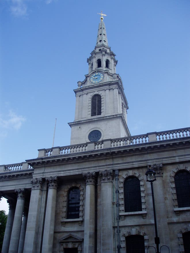 Arquitectura en St Martin-in-the-Fields