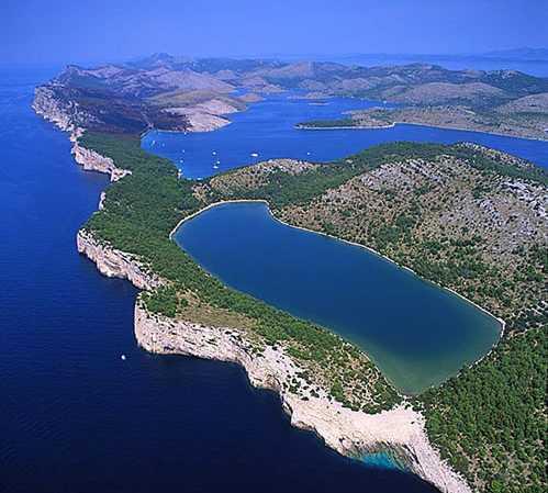 Foto aérea en Islas Kornati