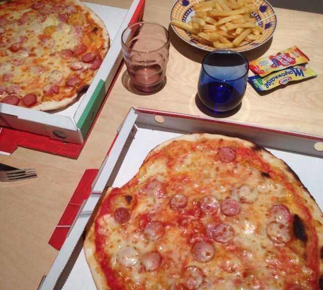 Plato en Pizzeria Formula 1