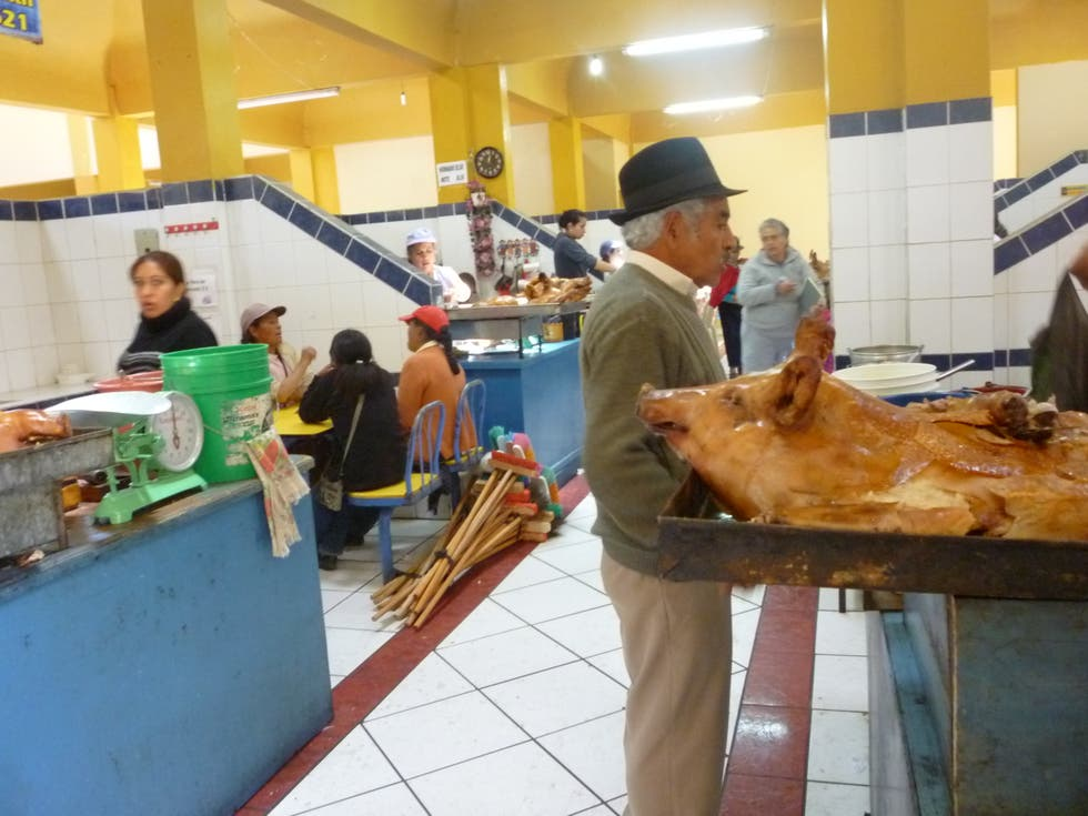 Plato en Mercado dominical