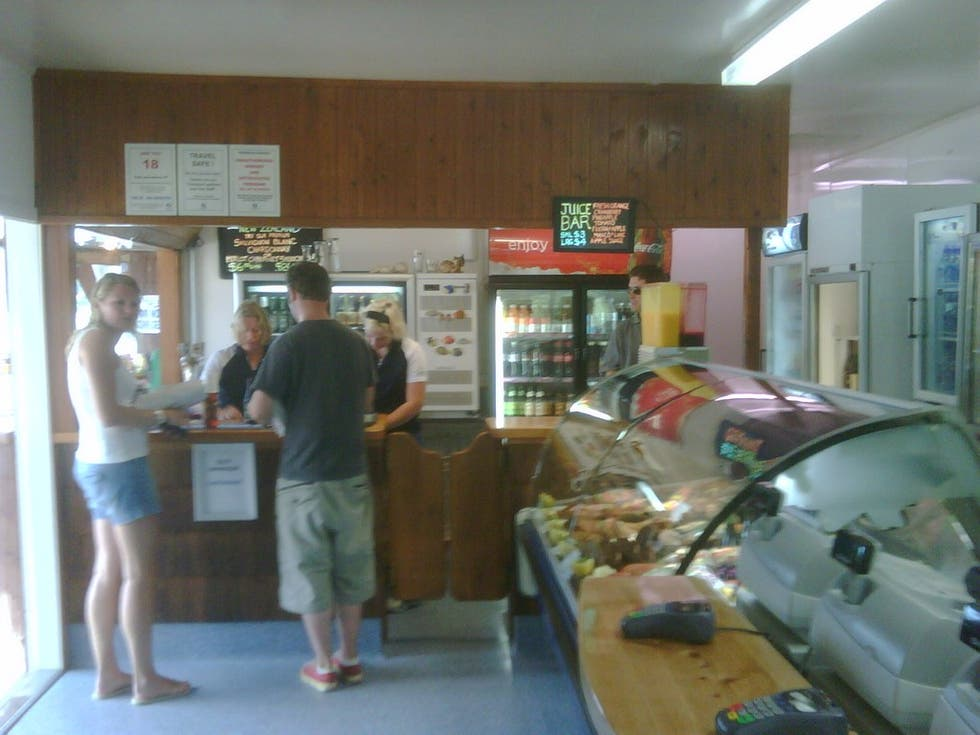 Sala en Mangonui Fish Shop