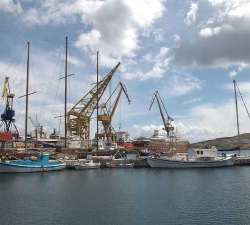 Puerto en Puerto de Ermoupolis