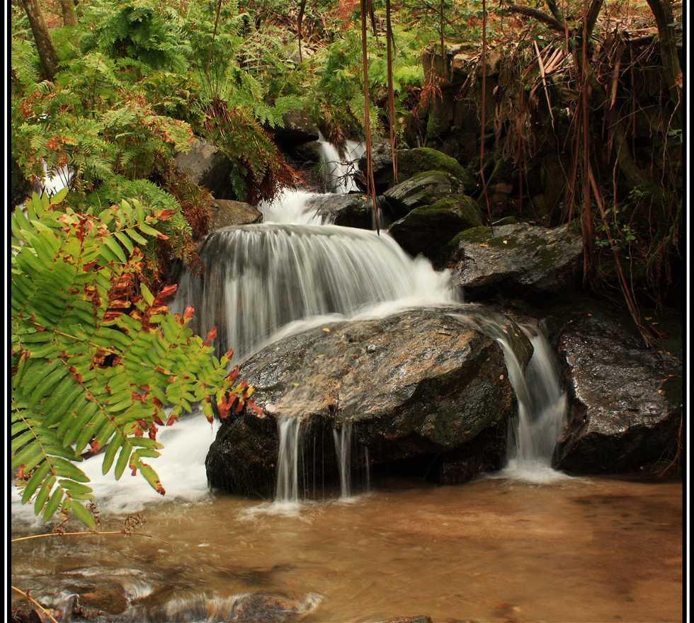 Waterfall in Moaña