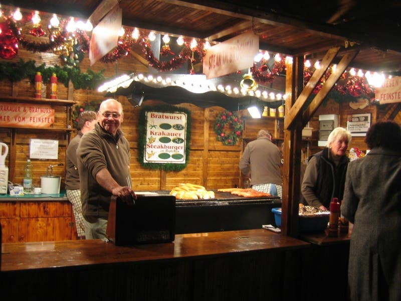 Bar en Mercado navideño