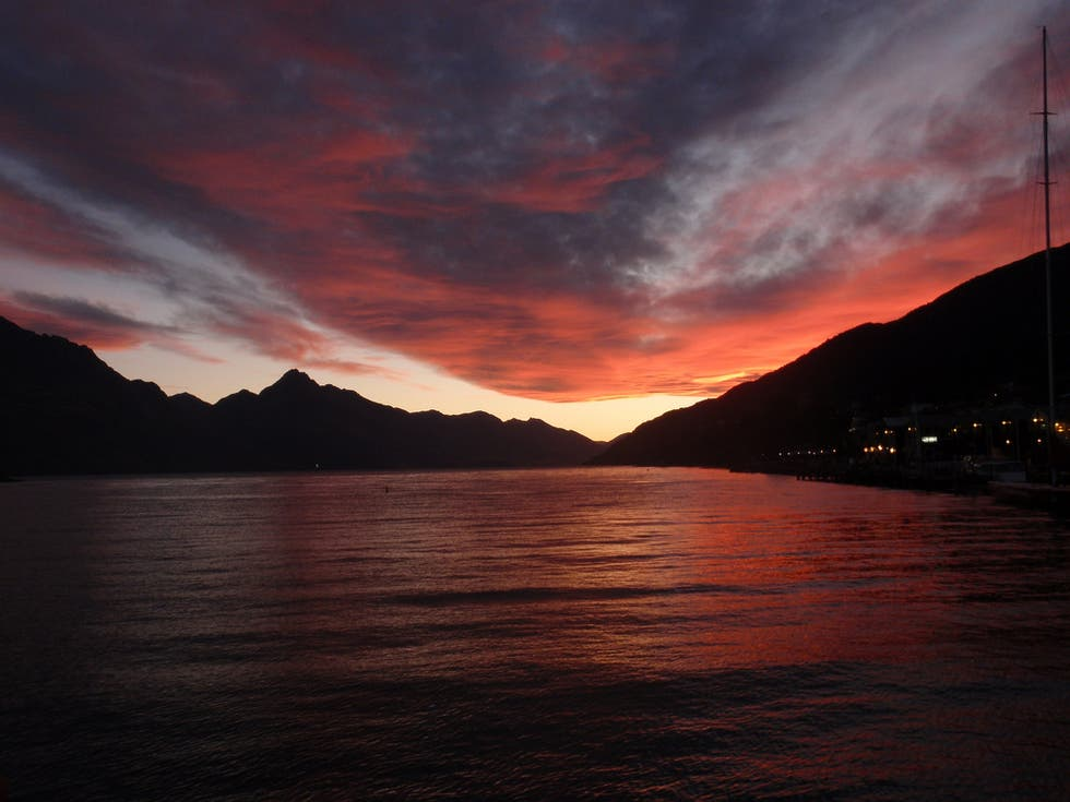 Sunset in Queenstown