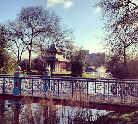 Río en Parque Victoria