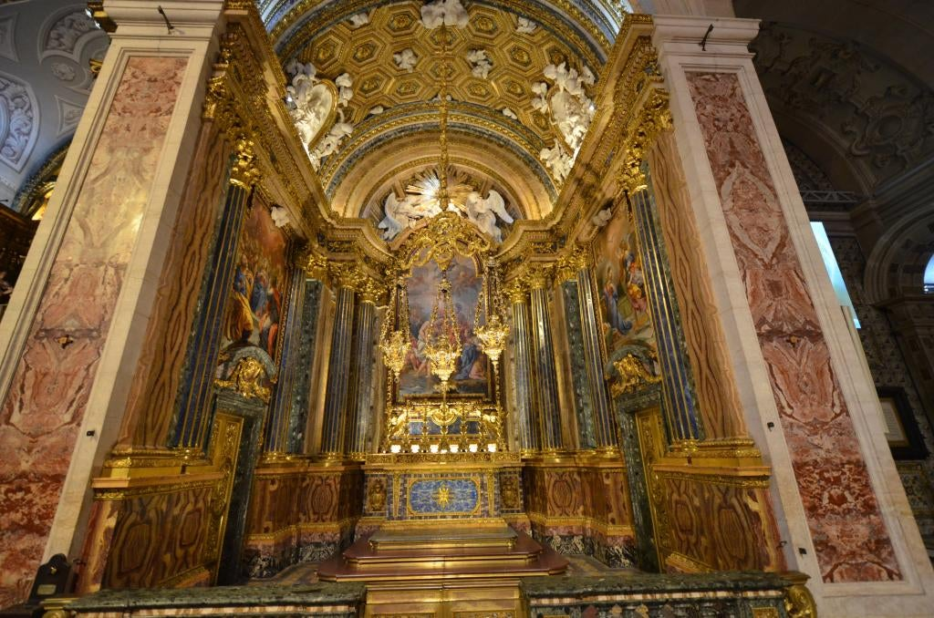 Altar in Church and Museum of San Roque