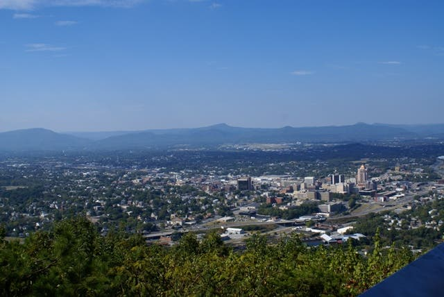 Vista de Pájaro en Roanoke