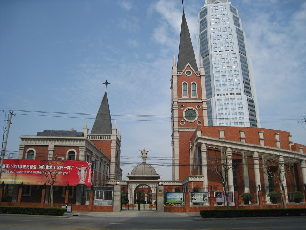 Ciudad en Zhangjialou Sacred Heart of Jesus Catholic Church