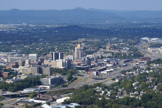 Foto aérea en Roanoke