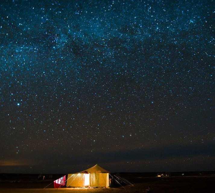 El cielo en el desierto