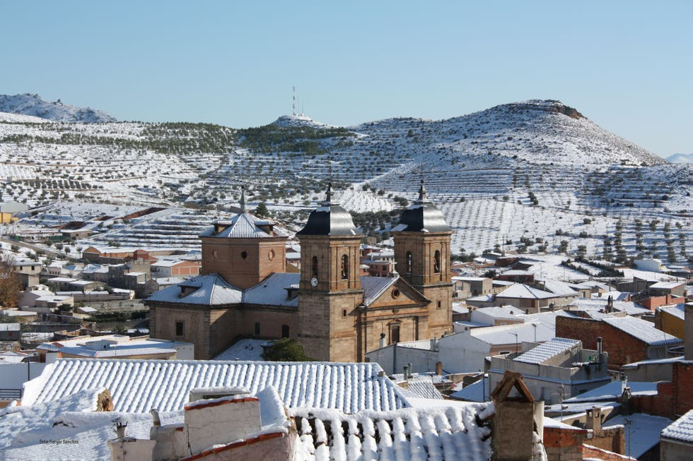 Snow in Elche de la Sierra