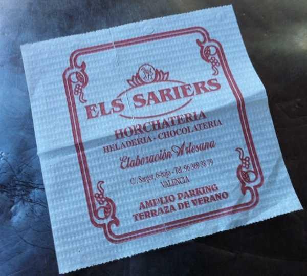 Letrero en Els Sariers